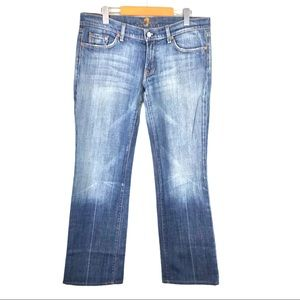 7 for all Mankind Cotton Stretch Bootcut Jeans